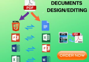 4843I will do Document files Conversion in 24 hours