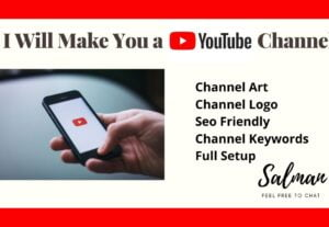 4493I Will Create Your youtube channel create design and optimize