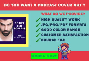 5894I'll create podcast cover art for your podcasts